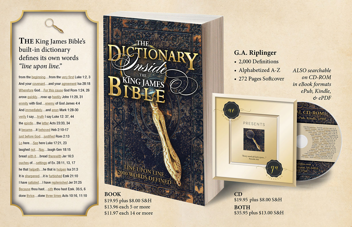 The Dictionary Inside the King James Bible Book and CD-ROM
