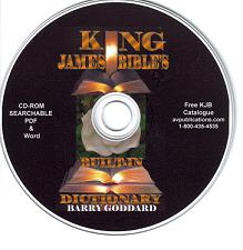 The King James Bible's Built-In Dictionary CD-Rom