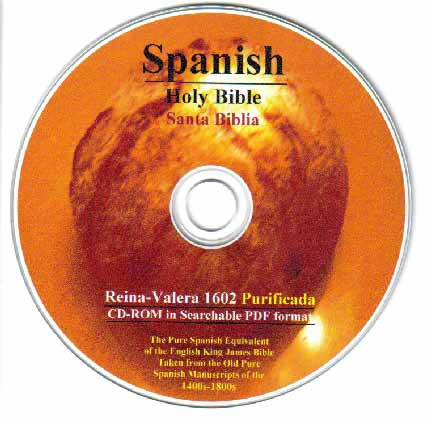 Spanish Holy Bible Valera 1602 Purificada on CD-ROM