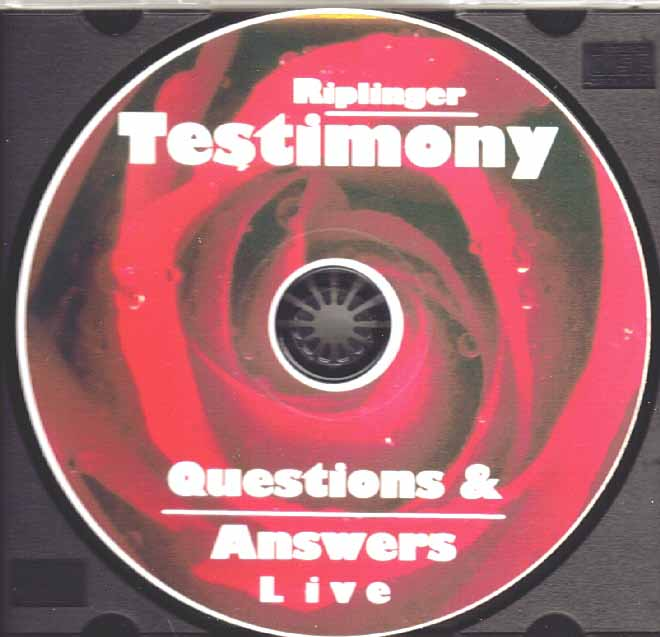 Riplinger Testimony with Questions & Answers (DVD)
