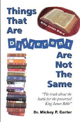 Things That are Different by Dr. Mickey Carter