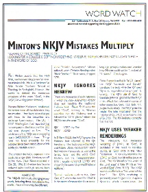 NKJV Errors: Answers Minton II